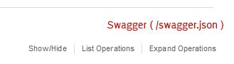 API definition as Swagger file